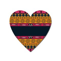 Pattern Ornaments Africa Safari Summer Graphic Heart Magnet by Amaryn4rt