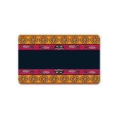 Pattern Ornaments Africa Safari Summer Graphic Magnet (name Card) by Amaryn4rt