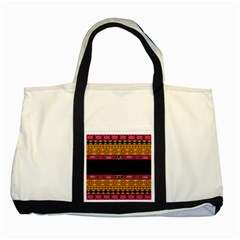 Pattern Ornaments Africa Safari Summer Graphic Two Tone Tote Bag by Amaryn4rt