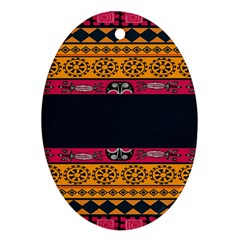 Pattern Ornaments Africa Safari Summer Graphic Oval Ornament (two Sides) by Amaryn4rt