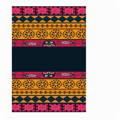 Pattern Ornaments Africa Safari Summer Graphic Large Garden Flag (two Sides) by Amaryn4rt