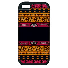 Pattern Ornaments Africa Safari Summer Graphic Apple Iphone 5 Hardshell Case (pc+silicone)