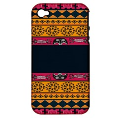 Pattern Ornaments Africa Safari Summer Graphic Apple Iphone 4/4s Hardshell Case (pc+silicone)
