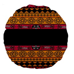 Pattern Ornaments Africa Safari Summer Graphic Large 18  Premium Round Cushions by Amaryn4rt