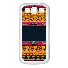 Pattern Ornaments Africa Safari Summer Graphic Samsung Galaxy S3 Back Case (white)