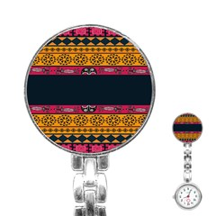 Pattern Ornaments Africa Safari Summer Graphic Stainless Steel Nurses Watch by Amaryn4rt