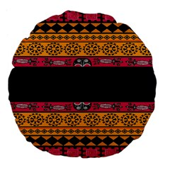Pattern Ornaments Africa Safari Summer Graphic Large 18  Premium Flano Round Cushions by Amaryn4rt