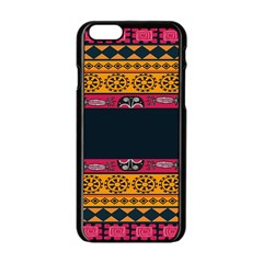 Pattern Ornaments Africa Safari Summer Graphic Apple Iphone 6/6s Black Enamel Case