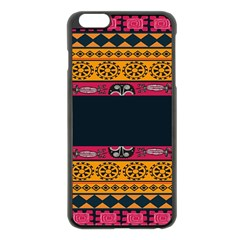 Pattern Ornaments Africa Safari Summer Graphic Apple Iphone 6 Plus/6s Plus Black Enamel Case by Amaryn4rt