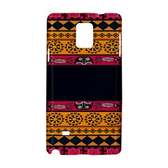 Pattern Ornaments Africa Safari Summer Graphic Samsung Galaxy Note 4 Hardshell Case by Amaryn4rt