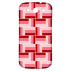 Pink Red Burgundy Pattern Stripes Samsung Galaxy S3 S Iii Classic Hardshell Back Case by Amaryn4rt