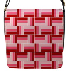 Pink Red Burgundy Pattern Stripes Flap Messenger Bag (s) by Amaryn4rt
