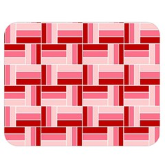 Pink Red Burgundy Pattern Stripes Double Sided Flano Blanket (medium)  by Amaryn4rt