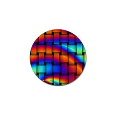 Rainbow Weaving Pattern Golf Ball Marker (10 Pack) by Amaryn4rt