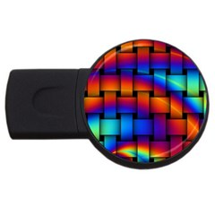 Rainbow Weaving Pattern Usb Flash Drive Round (4 Gb) by Amaryn4rt
