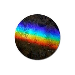 Rainbow Color Prism Colors Magnet 3  (round) by Amaryn4rt
