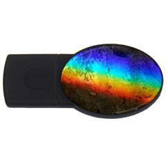 Rainbow Color Prism Colors Usb Flash Drive Oval (4 Gb) by Amaryn4rt