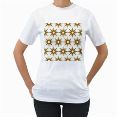 Seamless Repeating Tiling Tileable Women s T Shirt (white) (two Sided) by Amaryn4rt