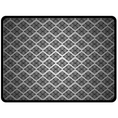 Silver The Background Double Sided Fleece Blanket (large)  by Amaryn4rt