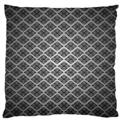 Silver The Background Large Flano Cushion Case (one Side) by Amaryn4rt
