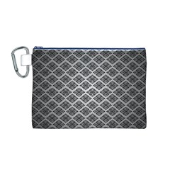 Silver The Background Canvas Cosmetic Bag (M)