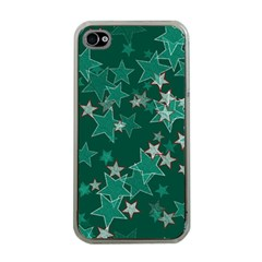 Star Seamless Tile Background Abstract Apple Iphone 4 Case (clear) by Amaryn4rt