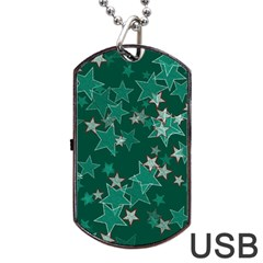 Star Seamless Tile Background Abstract Dog Tag Usb Flash (one Side) by Amaryn4rt