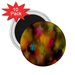 Star Background Texture Pattern 2 25  Magnets (10 Pack)  by Amaryn4rt