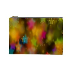 Star Background Texture Pattern Cosmetic Bag (large)