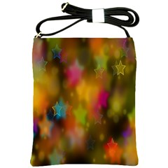 Star Background Texture Pattern Shoulder Sling Bags by Amaryn4rt