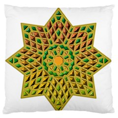Star Pattern Tile Background Image Large Flano Cushion Case (one Side) by Amaryn4rt