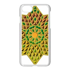 Star Pattern Tile Background Image Apple Iphone 7 Seamless Case (white) by Amaryn4rt