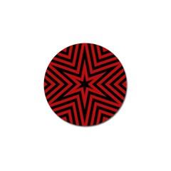 Star Red Kaleidoscope Pattern Golf Ball Marker (4 Pack) by Amaryn4rt