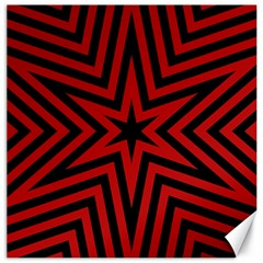 Star Red Kaleidoscope Pattern Canvas 16  X 16   by Amaryn4rt