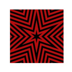 Star Red Kaleidoscope Pattern Small Satin Scarf (square) by Amaryn4rt