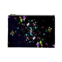 Star Structure Many Repetition Cosmetic Bag (large)