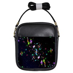 Star Structure Many Repetition Girls Sling Bags by Amaryn4rt