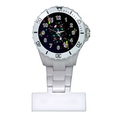 Star Structure Many Repetition Plastic Nurses Watch by Amaryn4rt
