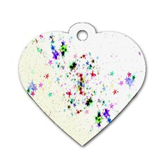 Star Structure Many Repetition Dog Tag Heart (two Sides) by Amaryn4rt