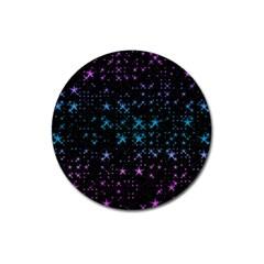 Stars Pattern Seamless Design Magnet 3  (round) by Amaryn4rt