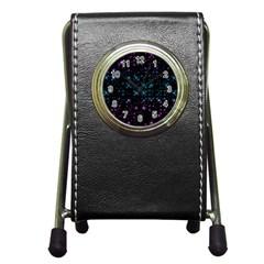 Stars Pattern Seamless Design Pen Holder Desk Clocks by Amaryn4rt