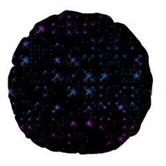 Stars Pattern Seamless Design Large 18  Premium Round Cushions