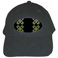 Vintage Pattern Background  Vector Seamless Black Cap