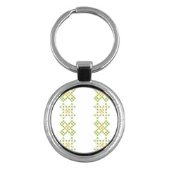 Vintage Pattern Background  Vector Seamless Key Chains (round)  by Amaryn4rt