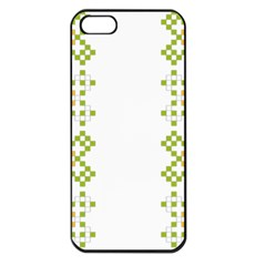 Vintage Pattern Background  Vector Seamless Apple Iphone 5 Seamless Case (black) by Amaryn4rt