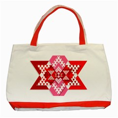 Valentine Heart Love Pattern Classic Tote Bag (Red) by Amaryn4rt