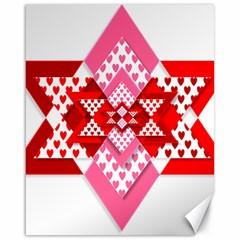 Valentine Heart Love Pattern Canvas 16  X 20