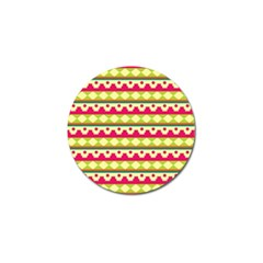 Tribal Pattern Background Golf Ball Marker