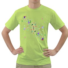 Star Structure Many Repetition Green T Shirt by Amaryn4rt