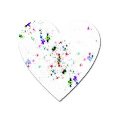 Star Structure Many Repetition Heart Magnet by Amaryn4rt